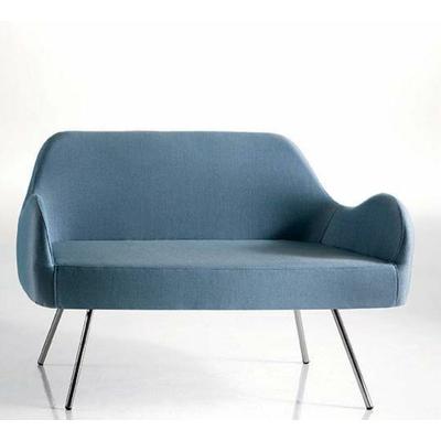 Canapé tapissé lounge POPPY pieds vintage 120cm