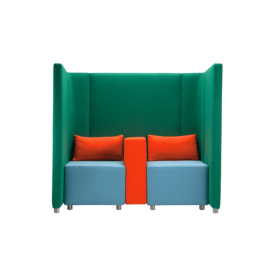 Espace d'attente double avec fauteuils CONFIDENT1 - 160cm pour hôtel & spa
