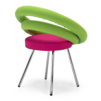 Chaise rembourrée DOUGHNUTS pieds style Pop Art 74cm
