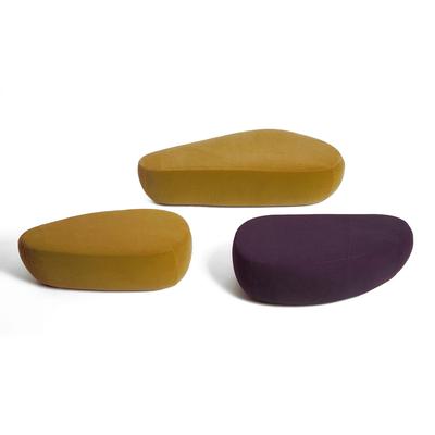 Pouf 2 tailles GALET 110 et 150cm - tissu ou cuir