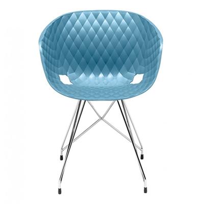 Fauteuil DIAMS coque gaufrée et pieds acier EIFFEL 59cm - Minimum 4 fauteuils