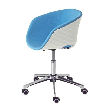 Fauteuil de bureau giratoire à roulettes DIAMS tapissé, coque gaufrée 73cm - Minimum 2 fauteuils