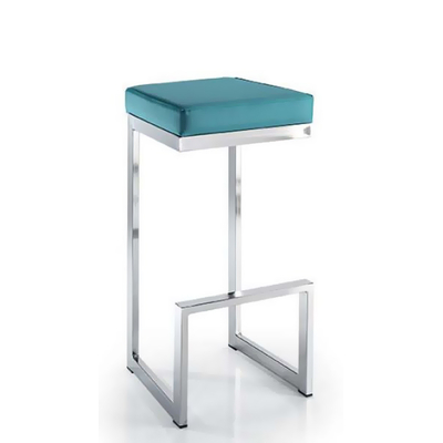 Tabouret de bar tapissé BLOOM 79cm rangement facile