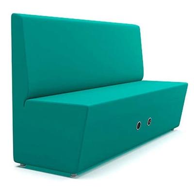 Banquette connectée 2 et 3 places AOKO dossier au choix - HUB Wifi usb prise - 120 à 180 cm