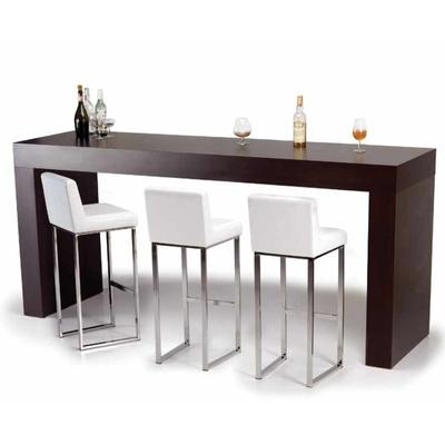 Table haute KENTUCKY 140, 200 et 250 cm - épaisseur bois 8 cm