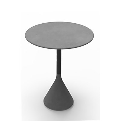 Pied de table mange-debout style industriel BÉTON 103cm