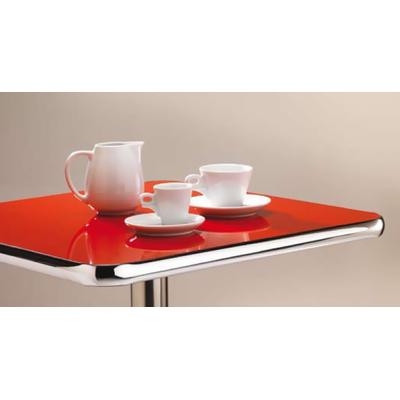 Plateau de table Laminé 27mm avec bord chromé - lot de 2 plateaux