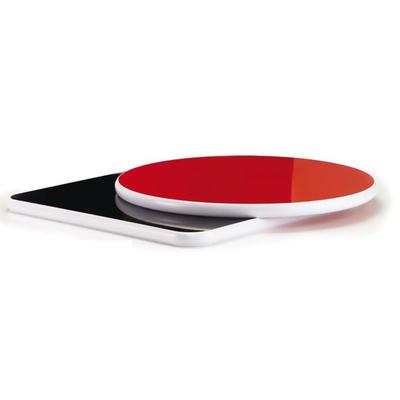 Plateau de table Laminé 27mm avec bord noir ou blanc - lot de 2 plateaux