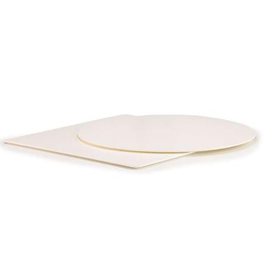 Plateau de table Stratifié 10mm full color blanc droit ou biseauté - lot de 2 plateaux