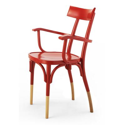 Fauteuil bicolore en hêtre VEGAS - lot de 2 fauteuils pour Café, Bar et Restaurant