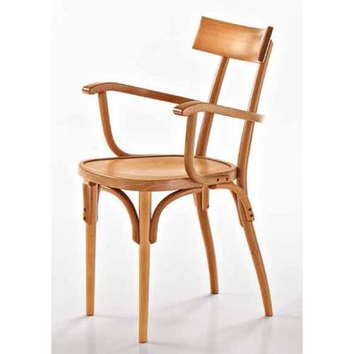 Fauteuil en hêtre teinté ou laqué VEGAS - lot de 2 fauteuils pour Café, Bar et Restaurant