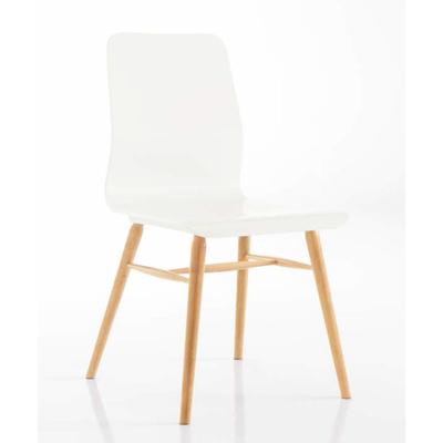 Chaise en hêtre massif style scandinave CHARLÈNE - lot de 2 chaises pour salle d'attente ou restaurant