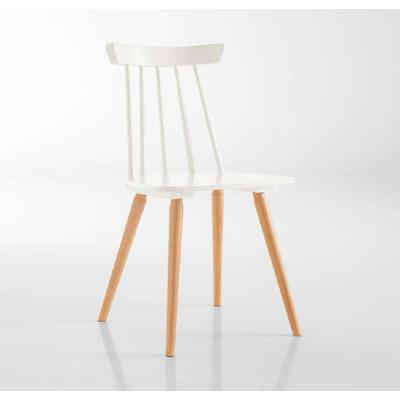 Chaise de style design-scandinave en bois MONACO - lot de 2 chaises pour salle d'attente ou restaurant