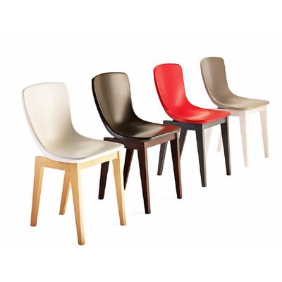 Chaise design pieds style scandinave JULIA - lot de 2 chaises pour salle d'attente ou restaurant