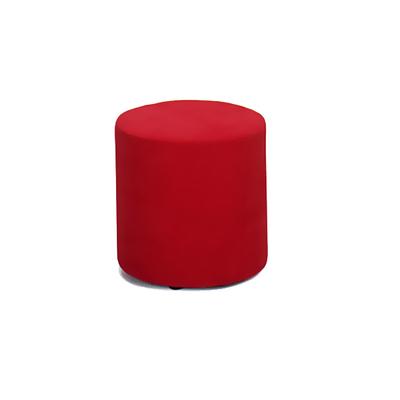 Pouf rond tapissé Pop Art BOUNTY - lot de 2 poufs