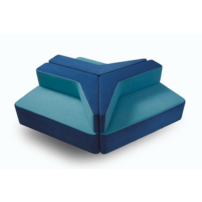 Composition TETRIS trigonale ou droite pour espace détente hôtel et spa