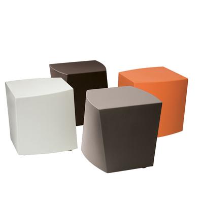 Pouf design polyéthylène CUBE - lot de 4 poufs