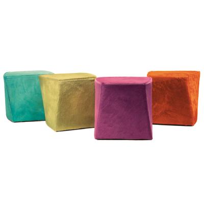 Pouf design rembourré CUBE - lot de 2 poufs