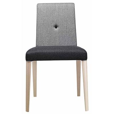 Chaise tapissée PIN pieds hêtre massif