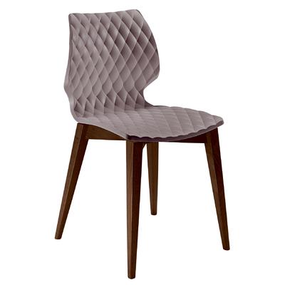 Chaise DIAMS coque gauffrée et pieds style scandinave carrés - lot de 2 chaises pour salle d'attente ou restaurant