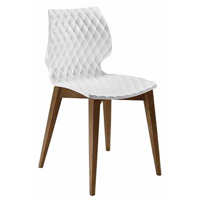 Chaise DIAMS coque gaufrée et pieds style scandinave carrés 48cm - minimum 4 chaises