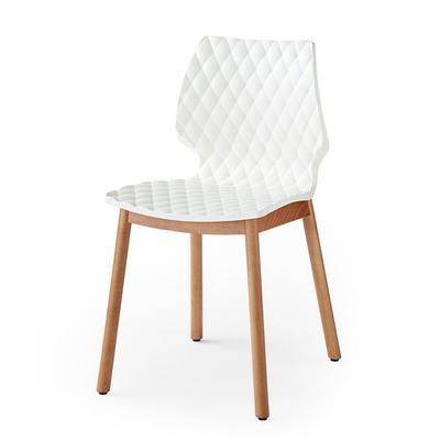 Chaise DIAMS 45CM coque gaufrée et pieds style scandinave ronds - Minimum 4 chaises