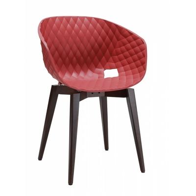 Fauteuil DIAMS coque gaufrée et pieds style scandinave carrés 59cm - minimum 4 fauteuils