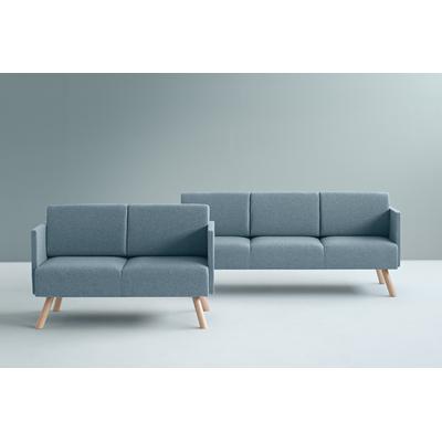 Canapé contemporain ZAHARA 130 et 203cm pieds style scandinave