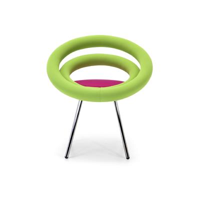 Chaise rembourrée DOUGHNUTS pieds style Pop Art