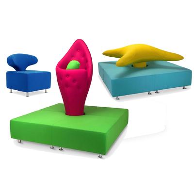Composition design ATLANTIS pour espace d'accueil hôtel et spa
