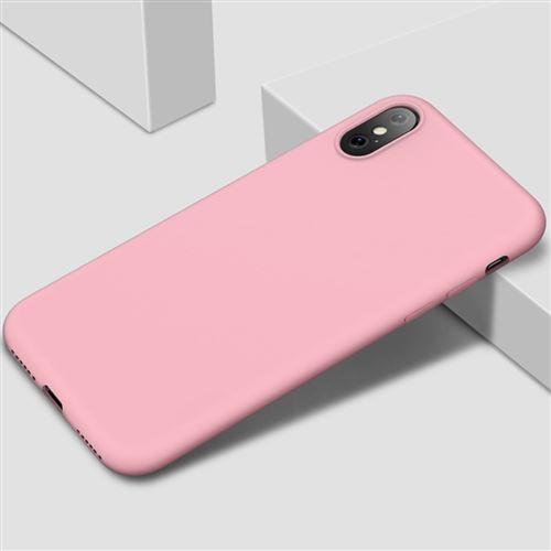 Coque Silicone Pour iPhone X / Xs Couleur Rose Haute Protection Little Boutik®