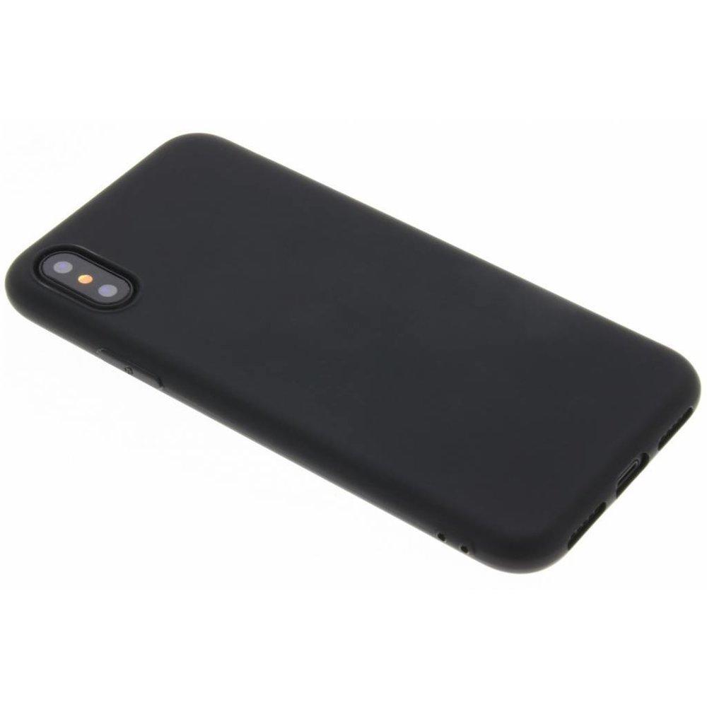 Coque Silicone Pour iPhone X / Xs Couleur Noir Haute Protection Little Boutik®