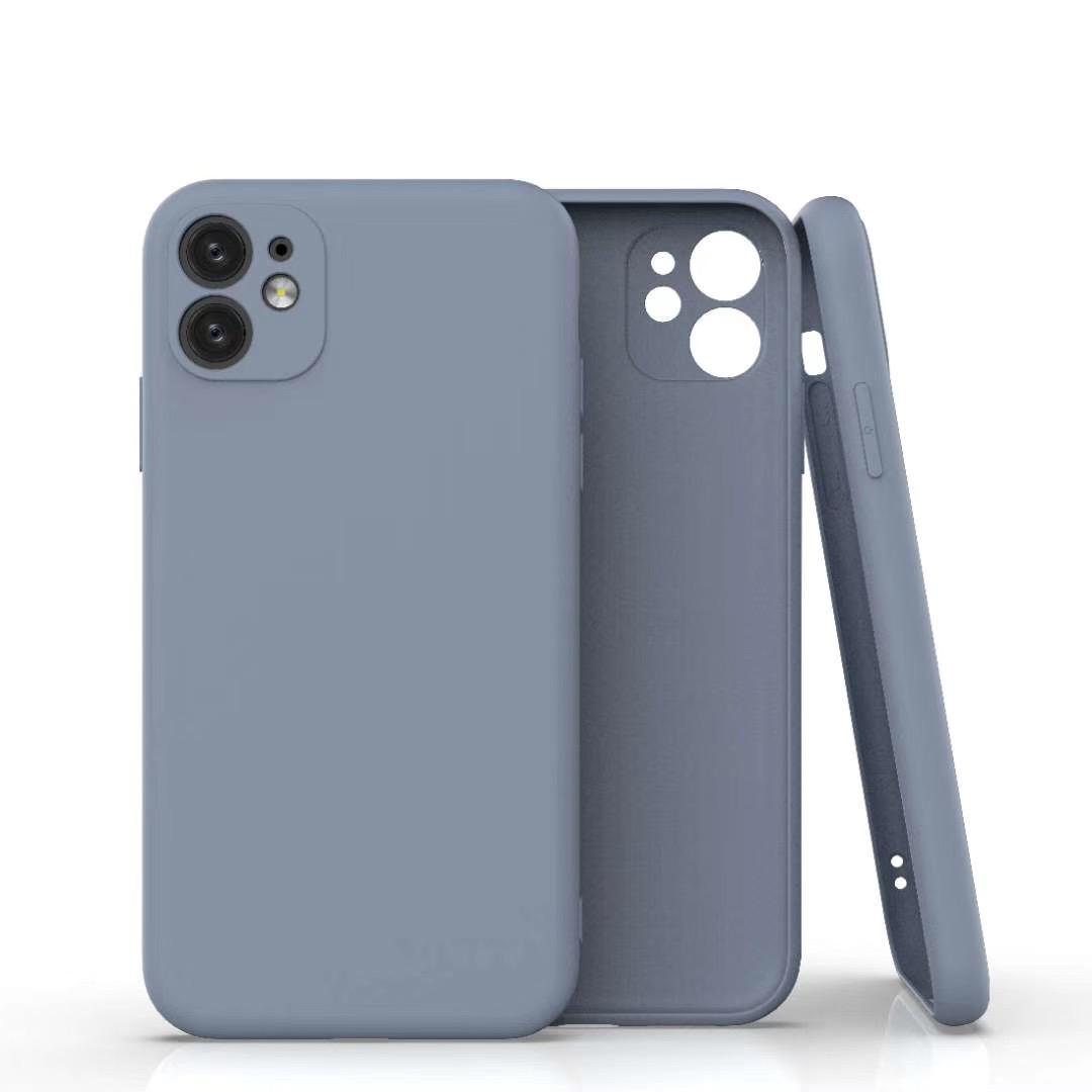 Coque Silicone Pour iPhone 11 Couleur Gris Protection Objectif Appareil Photo Little Boutik®