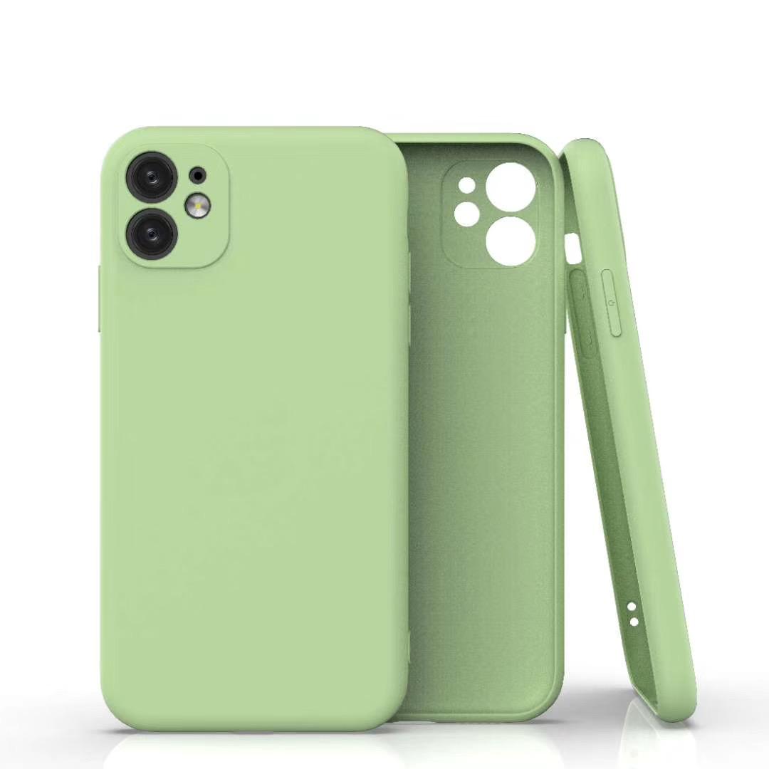 Coque Silicone Pour iPhone 11 Couleur Vert Protection Objectif Appareil Photo Little Boutik®