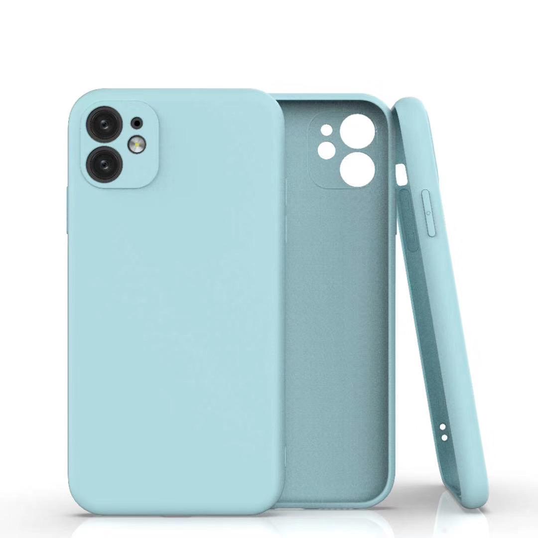 Coque Silicone Pour iPhone 11 Couleur Bleu Protection Objectif Appareil Photo Little Boutik®