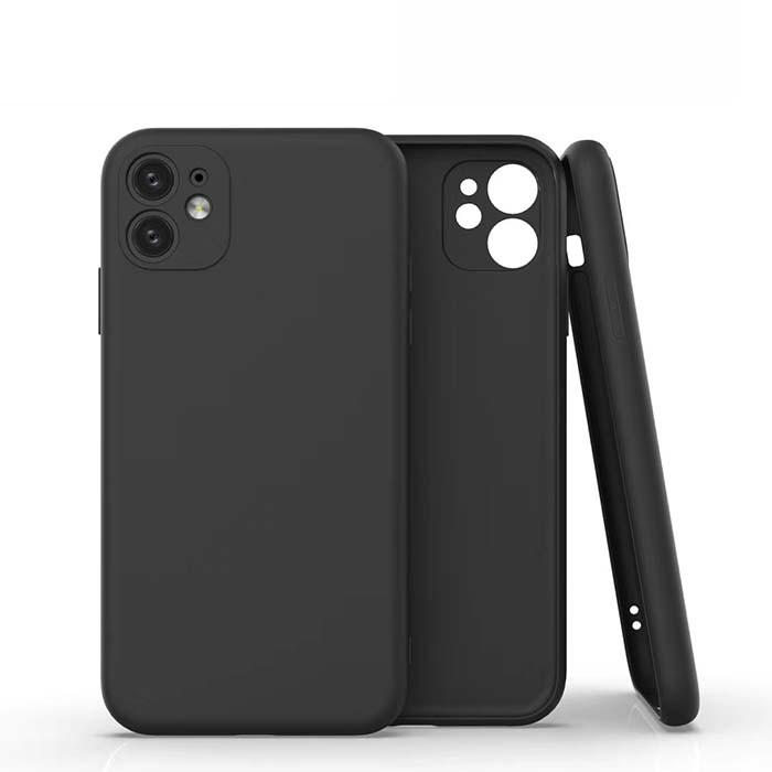 Coque Silicone Pour iPhone 11 Couleur Noir Protection Objectif Appareil Photo Little Boutik®