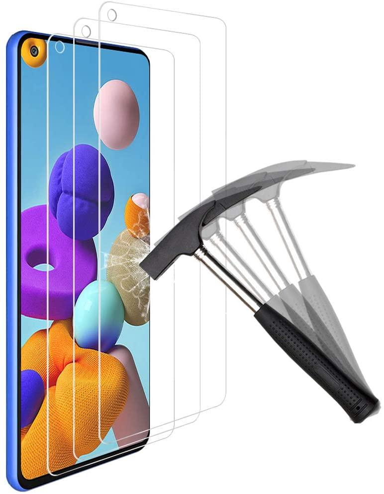 Verres Trempe Haute Resistance Pour Samsung A21 Pack X3 Protection Ecran Little Boutik®