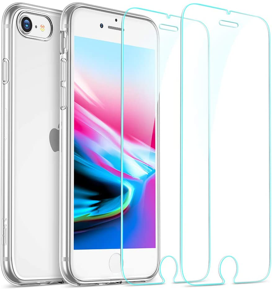 Coque Silicone  + 2 Vitres Protection Ecran Pour Apple iPhone SE 2020 Little Boutik®