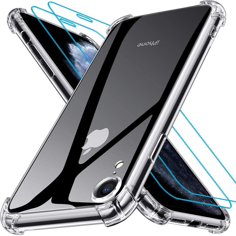 Coque Silicone Angles Renforces + 2 Vitres Protection Ecran Pour Apple iPhone Xr Little Boutik®