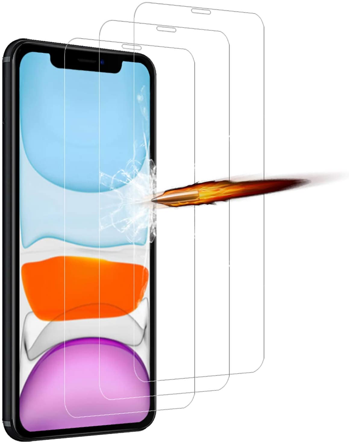 Pack X3 Vitres Protection Ecran Pour Apple iPhone 11 Little Boutik®