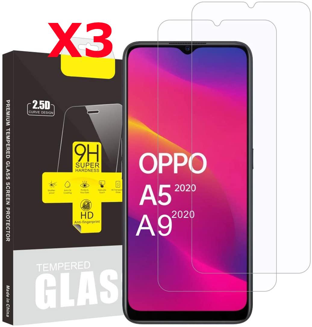 Pack X3 Vitres Protection Ecran Pour OPPO A9 2020 Little Boutik®