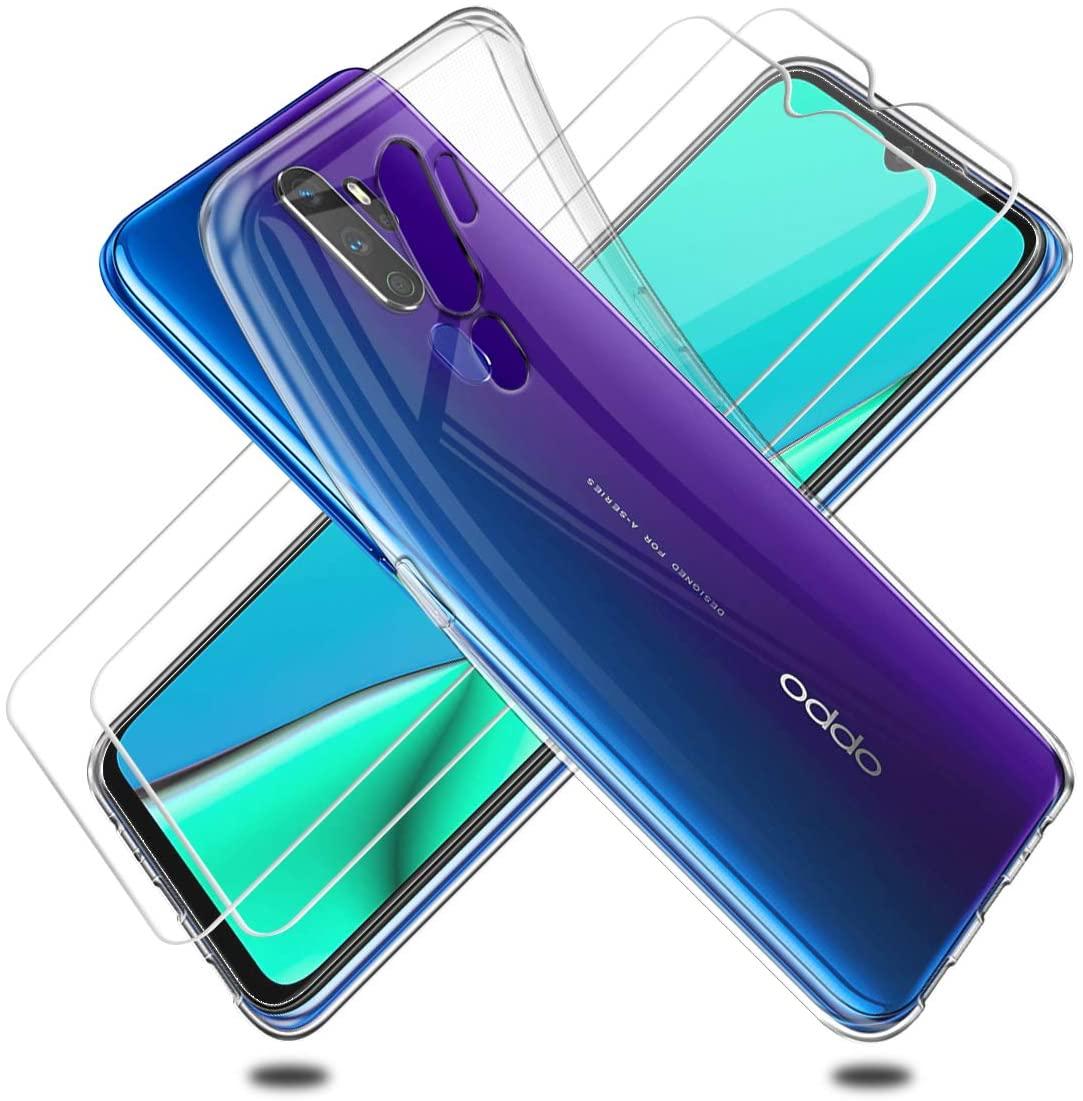 Coque Silicone + 2 Vitres Protection Ecran Pour OPPO A9 2020 Little Boutik®