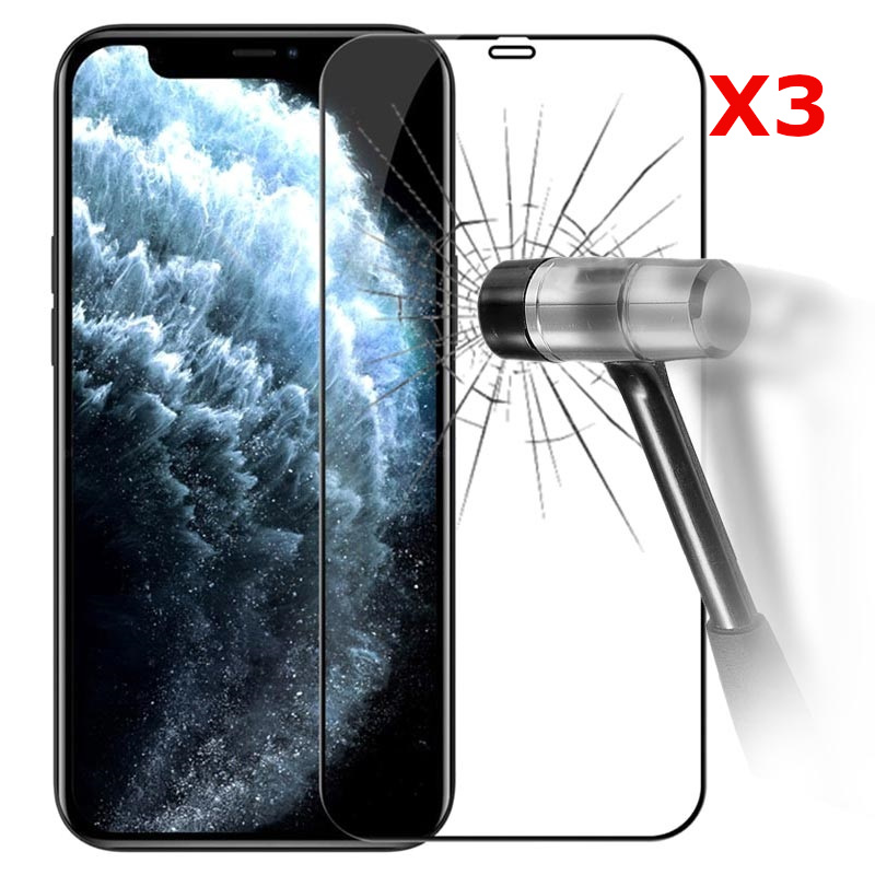 Pack X3 Vitres Protection Ecran Pour Apple iPhone 12 PRO Little Boutik®