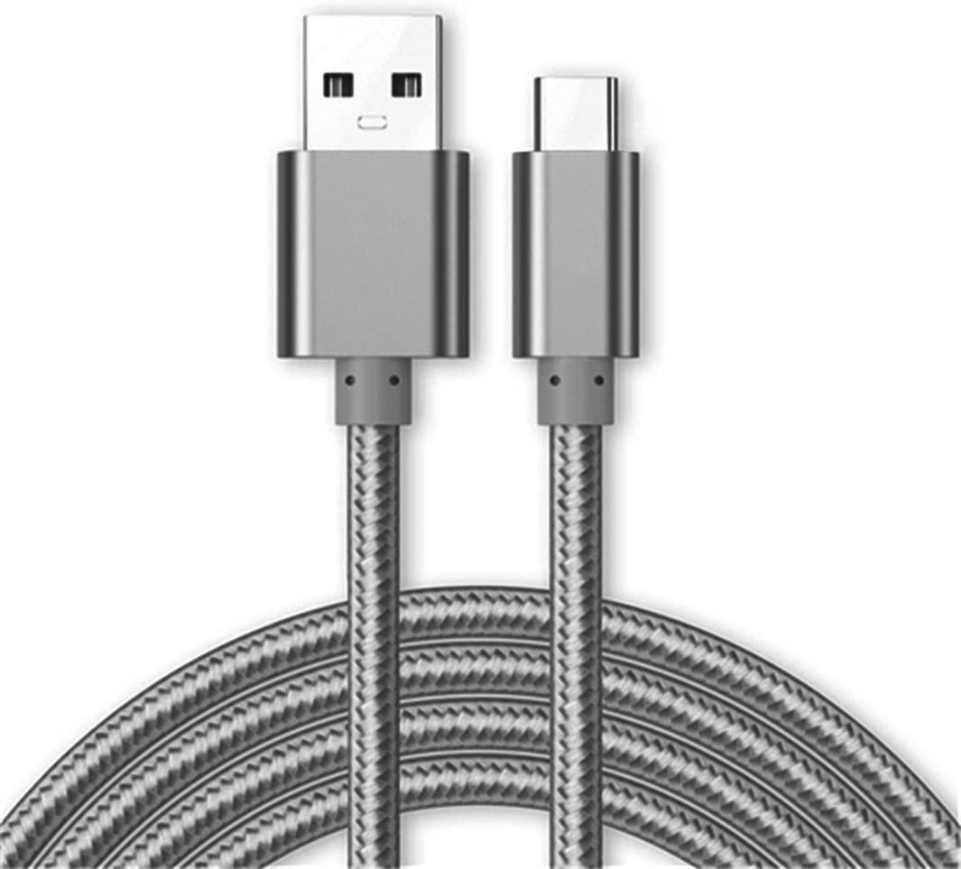 Cable Type-C Nylon Renforce Longeur 2M Couleur Argent Little Boutik®