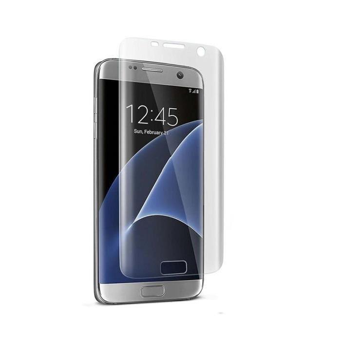 Verre Trempé Samsung S7 Edge Vitre de Protection Clear Haute Resistance