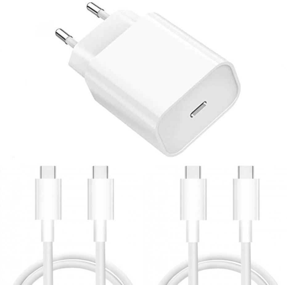 Chargeur Rapide 18W USB-C pour + 2 Cables Type-C Samsung A21S / A31 / A41 / A51 / A32 / A42 / A52 / A72 / S21 / S21 Plus / S21 Ultra  / S20 / S20 PLUS / S20 ULTRA / S10 / S9 / S8 Little Boutik®