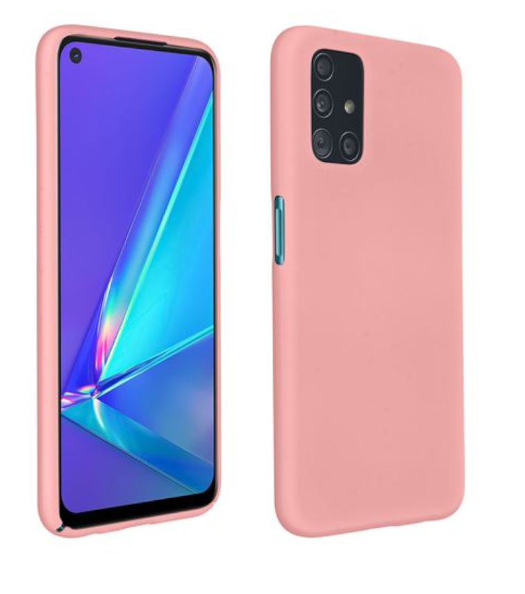 Coque Silicone TPU Couleur Rose Pour Oppo A72 Little Boutik®
