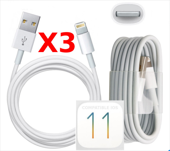 X3 Cable Usb pour Iphone 7 / 7Plus / 8 / 8Plus/ X  PACK X3 Little Boutik®