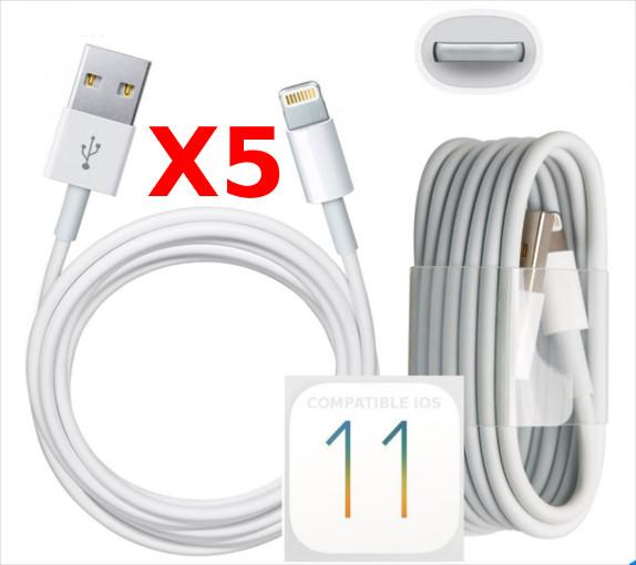 X5 Cable Usb pour Iphone 7 / 7Plus / 8 / 8Plus/ X  PACK X5 Little Boutik®