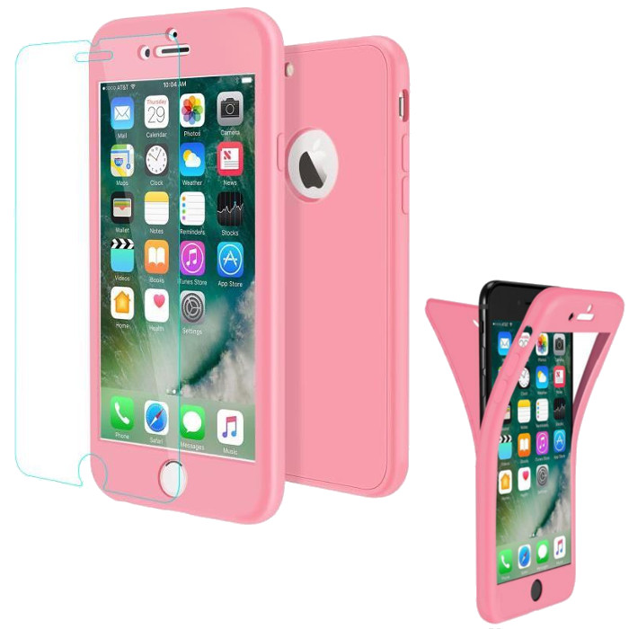 coque iphone 7 plus integrale rose